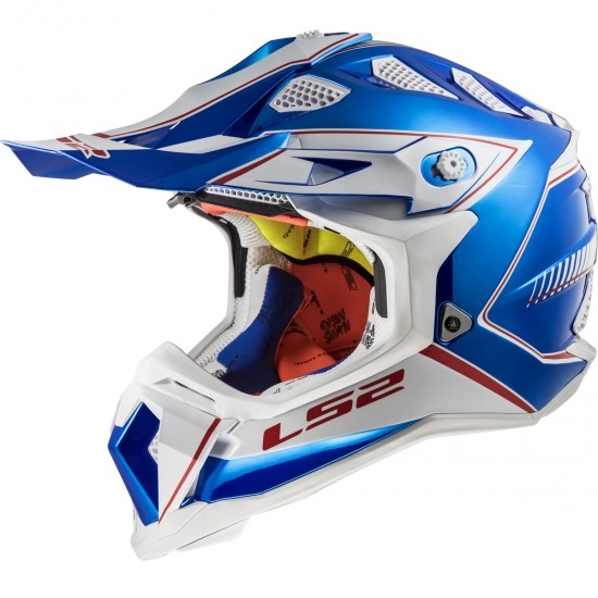 Casque LS2 MX470 Subverter Power Chrome / Blue