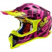 LS2 MX470 Subverter Troop Matt Pink H-V Yellow