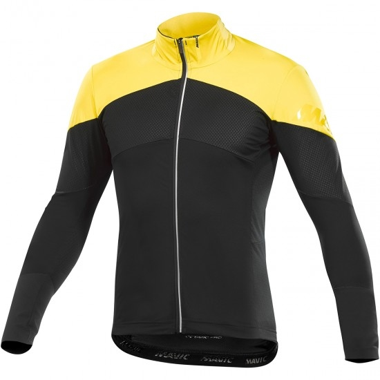 Bike Trikot MAVIC Cosmic Pro Wind Black / Yellow Mavic