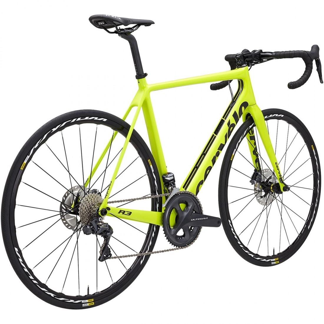 b1c2abf3d CERVELO R3 Disc Ultegra Di2 2018 Fluoro   Black Road bike · Motocard