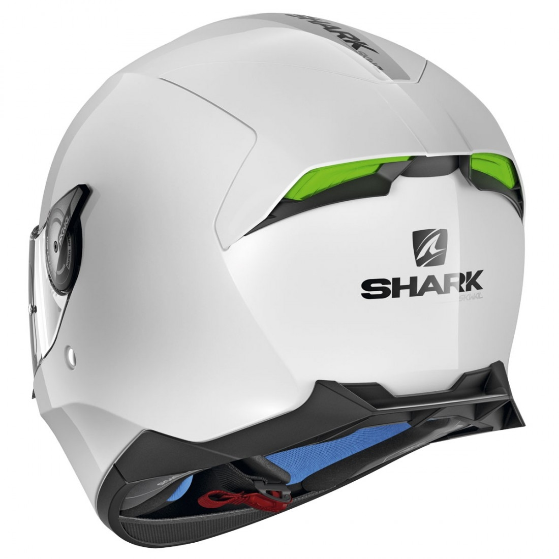 shark skwal 2 blank white azur helmet motocard. Black Bedroom Furniture Sets. Home Design Ideas