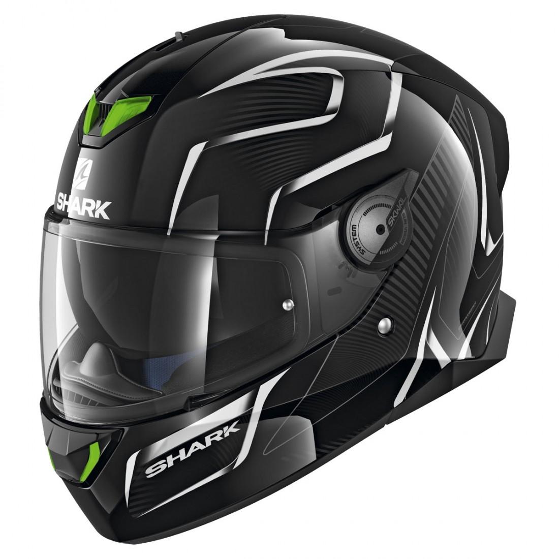 Shark Skwal 2 Flynn Black White Anthracite Helmet Motocard
