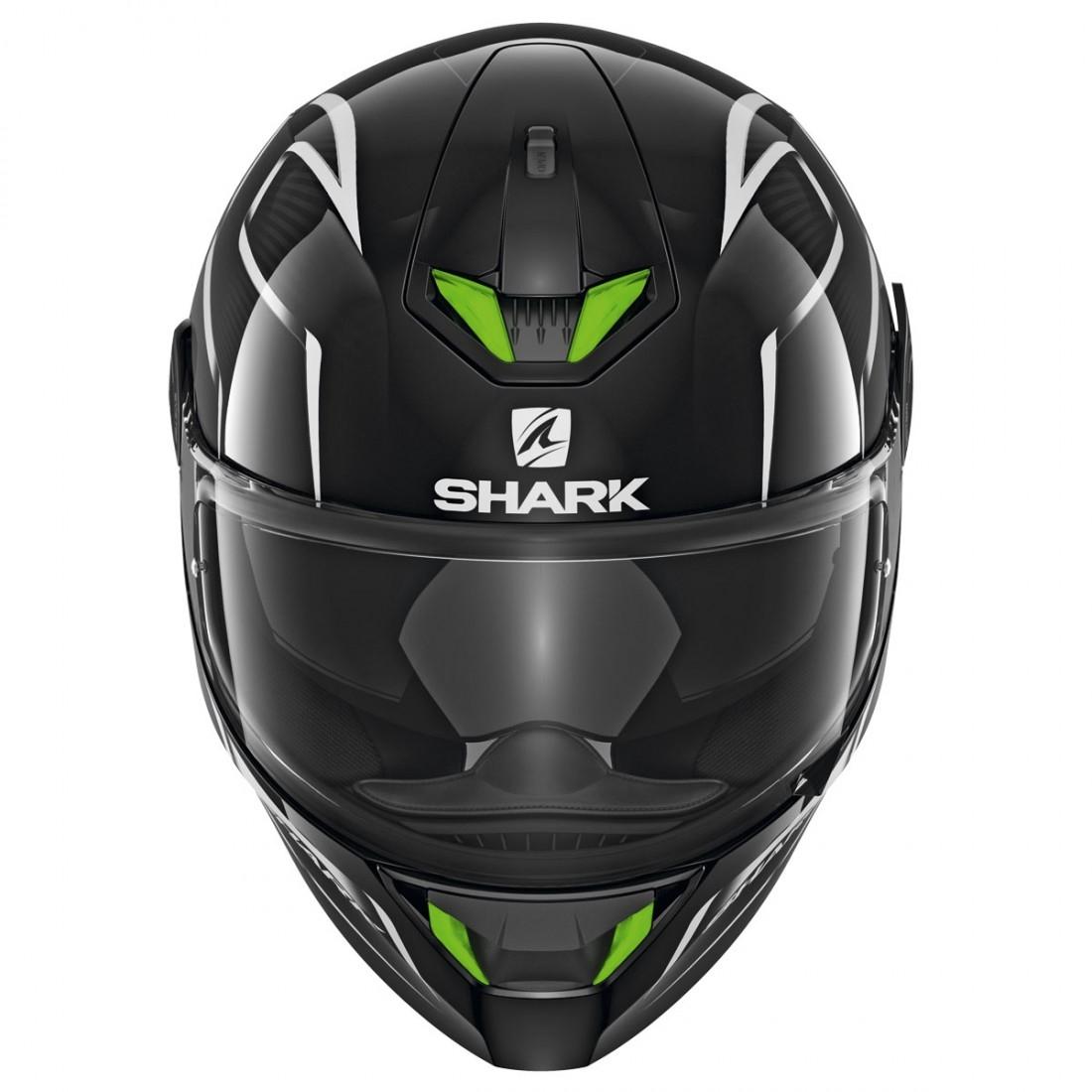 shark skwal 2 flynn black white anthracite helmet. Black Bedroom Furniture Sets. Home Design Ideas