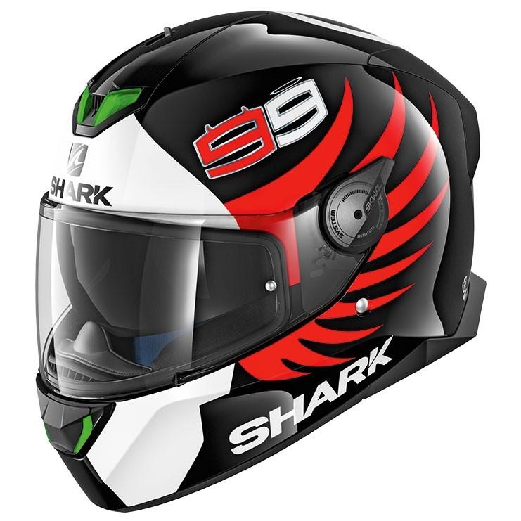 Shark Skwal 2 Lorenzo Black White Red Helmet Motocard