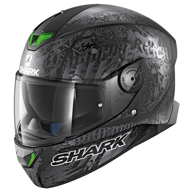 6c5216bb SHARK Skwal 2 Switch Riders 2 Mat Black / Anthracite / Silver Helmet ·  Motocard