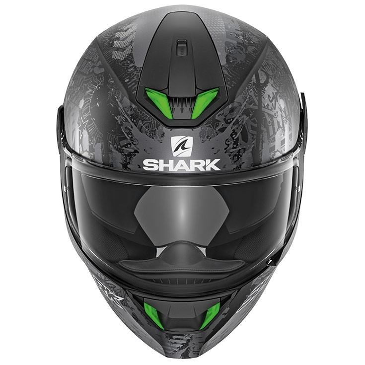 Shark Skwal 2 Switch Riders 2 Mat Black Anthracite Silver Helmet