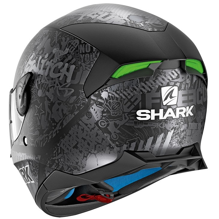 e90cda96 SHARK Skwal 2 Switch Riders 2 Mat Black / Anthracite / Silver Helmet ...
