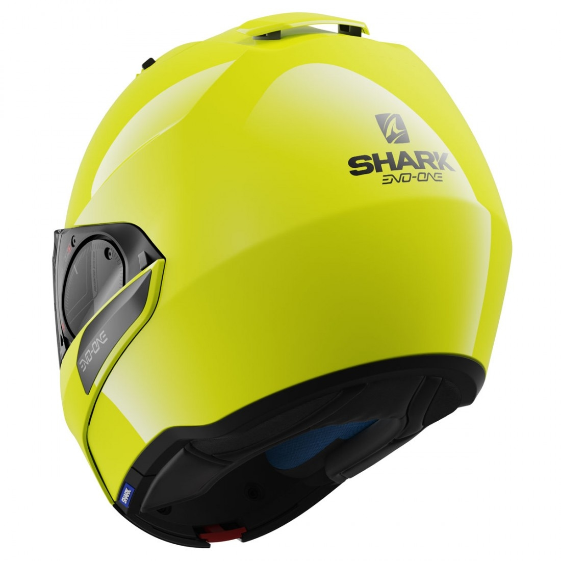shark evo one 2 hi vis yellow black yellow helmet. Black Bedroom Furniture Sets. Home Design Ideas