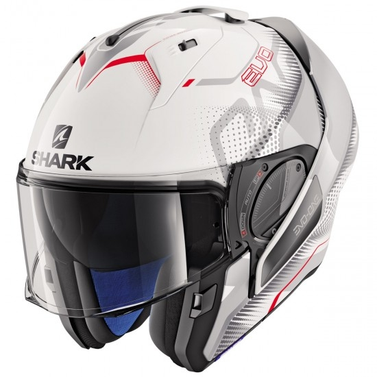 Helm SHARK Evo-One 2 Keenser White / Silver / Red