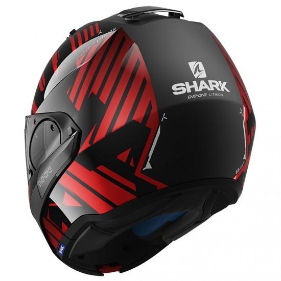 Casco SHARK Evo-One 2 Lithion Dual Black / Chrom / Red