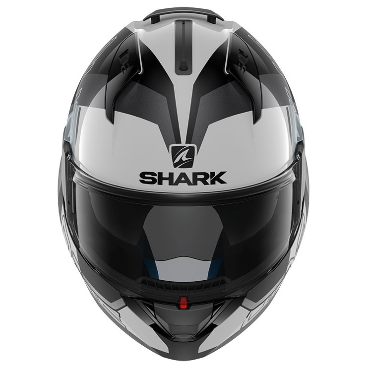 Casque Shark Evo One 2 Slasher White Black Silver Motocard