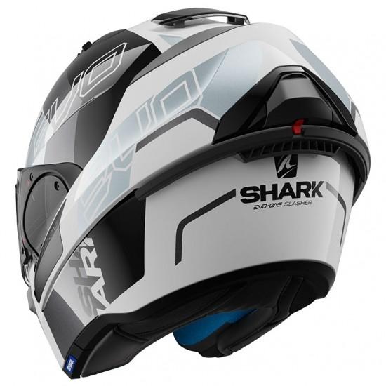 Casco SHARK Evo-One 2 Slasher White / Black / Silver