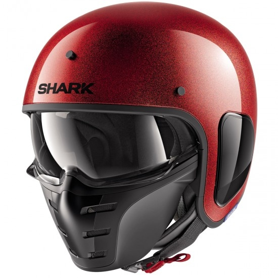 Casco SHARK S-Drak Glitter Red / Red / Glitter