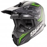SHARK Varial Replica Tixier Mat Black / Green / Anthracite