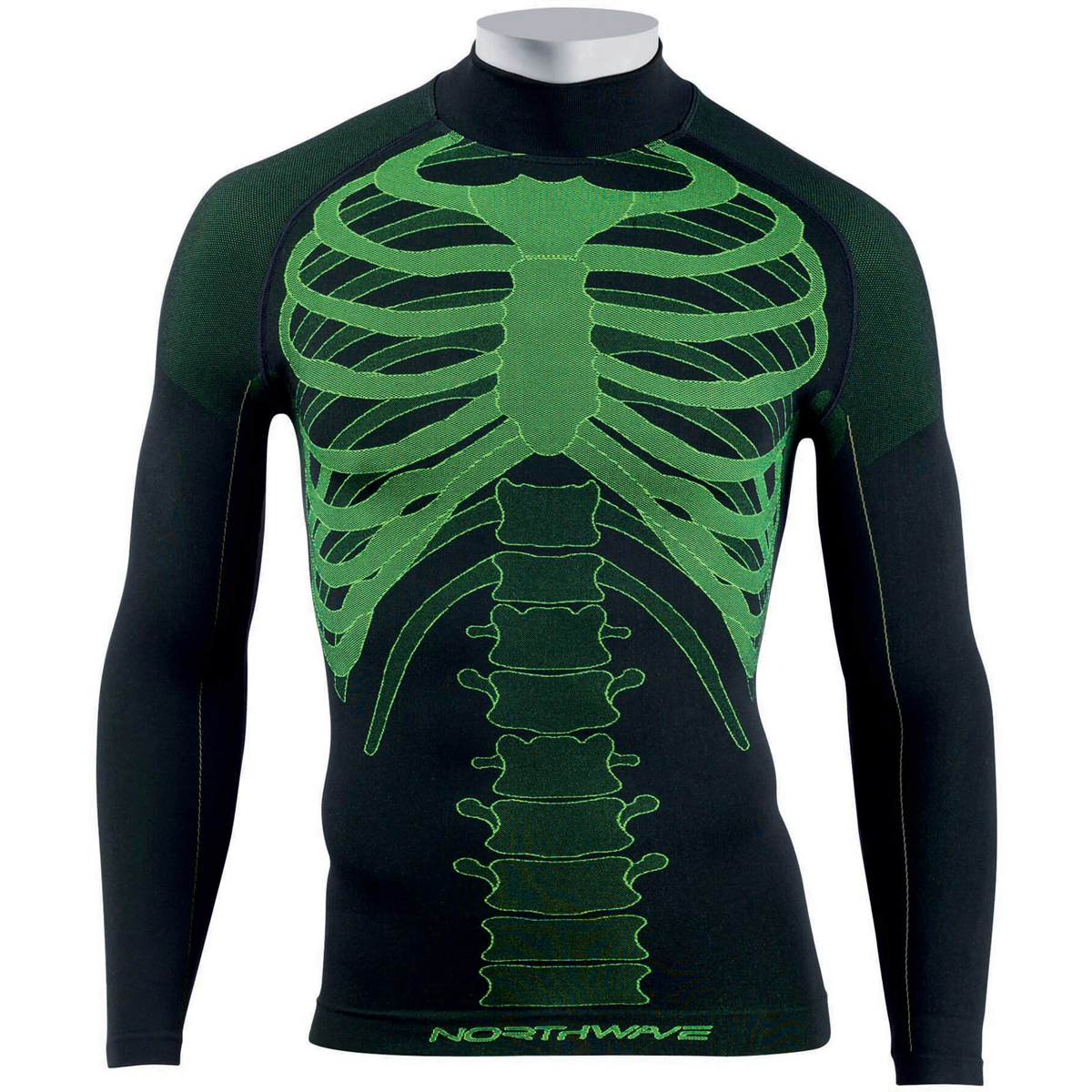null NORTHWAVE Body Fit Evo L/S Black / Yellow Fluo