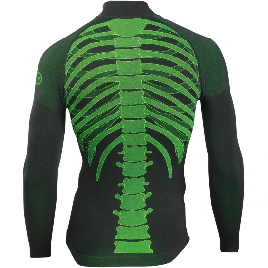 Body Fit Evo L/S Black / Yellow Fluo