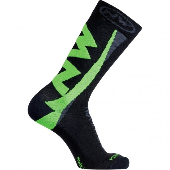 NORTHWAVE Extreme Winter Black / Green Fluo Socks