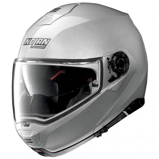 NOLAN N100-5 Classic N-Com Platinium Silver Helmet