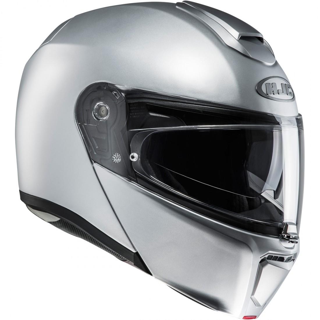 hjc rpha 90 semi flat silver helmet motocard. Black Bedroom Furniture Sets. Home Design Ideas