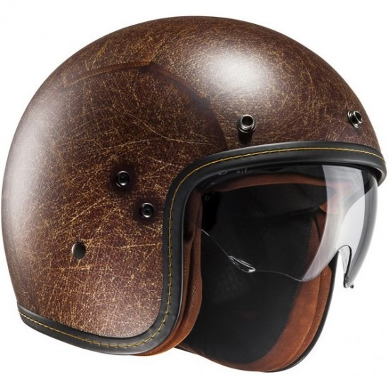 Helm HJC FG-70S Vintage Semi-Flat Brown