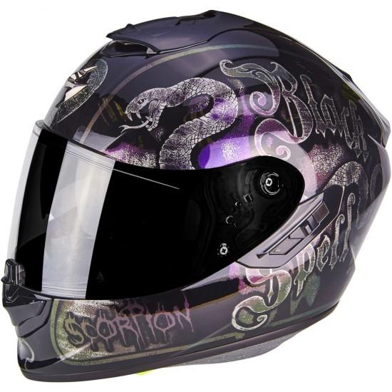 Helm SCORPION Exo-1400 Air Blackspell Chameleon Black