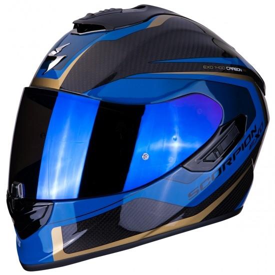 Casco SCORPION Exo-1400 Carbon Air Esprit Black / Blue