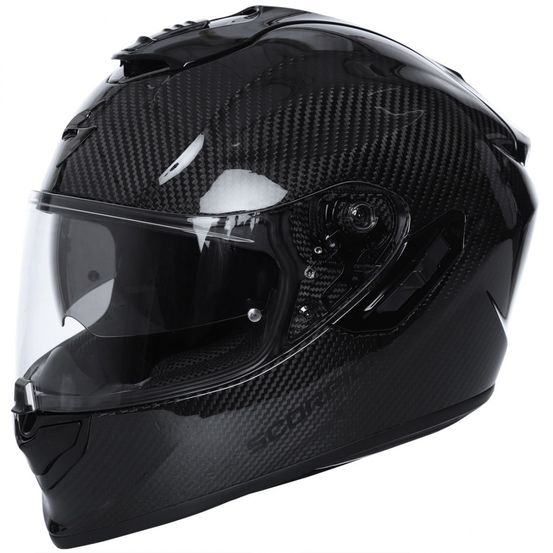 scorpion exo 1400 carbon air solid helmet motocard. Black Bedroom Furniture Sets. Home Design Ideas
