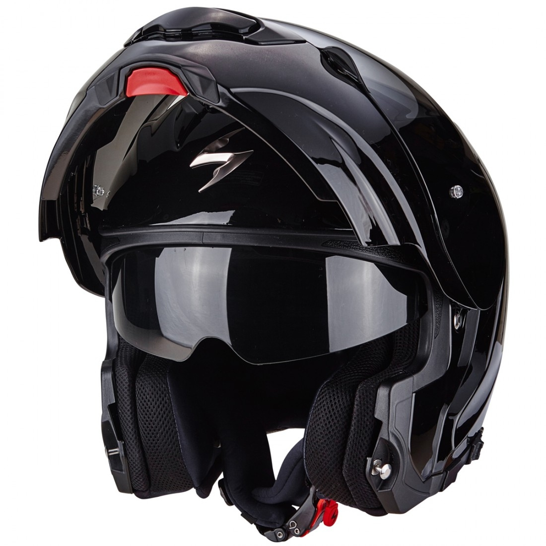 casco scorpion exo 3000 air black motocard. Black Bedroom Furniture Sets. Home Design Ideas