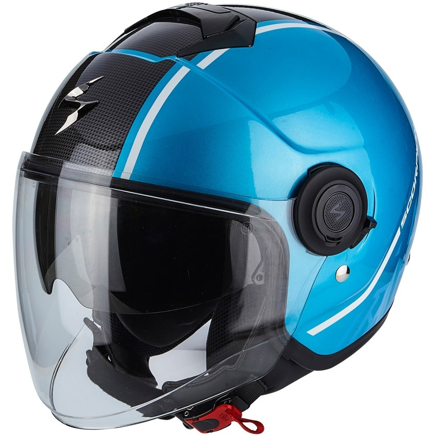 9505fc42 SCORPION Exo-City Avenue Sky Blue / Black Helmet · Motocard