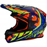 SCORPION VX-21 Air Furio Matt Blue / Red / Neon Yellow