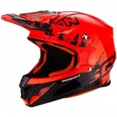 SCORPION VX-21 Air Mudirt Black / Neon Red