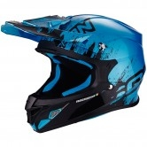 SCORPION VX-21 Air Mudirt Black / Sky Blue