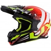 SCORPION VX-21 Air Xagon Neon Red / Black