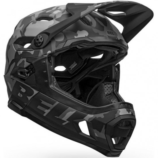Casco BELL Super DH MIPS Matte - Gloss Black  Camo