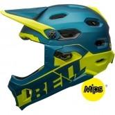BELL Super DH MIPS Matte - Gloss Blue / Hi-Viz