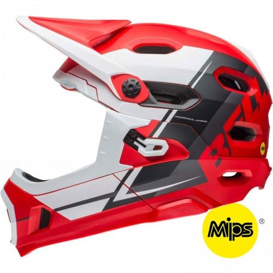 Casco BELL Super DH MIPS Matte Red / White / Black Recourse