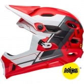 BELL Super DH MIPS Matte Red / White / Black Recourse