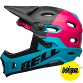 BELL Super DH MIPS Unhinged Matte / Gloss Black / Berry / Blue
