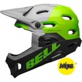 BELL Super DH MIPS Unhinged Matte-Gloss Gray / Green / Black