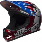 BELL Sanction Nitro Circus Gloss Silver / Blue / Red