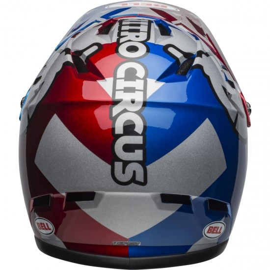 Casco BELL Sanction Nitro Circus Gloss Silver / Blue / Red