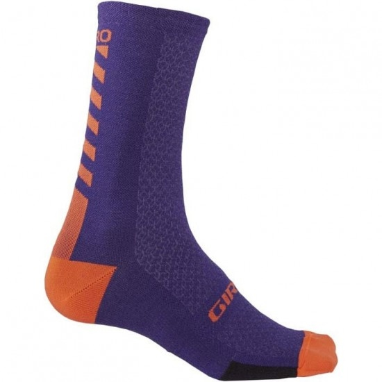 Calcetines GIRO HRC + Merino Wool Ultraviolet Purple / Vermillion