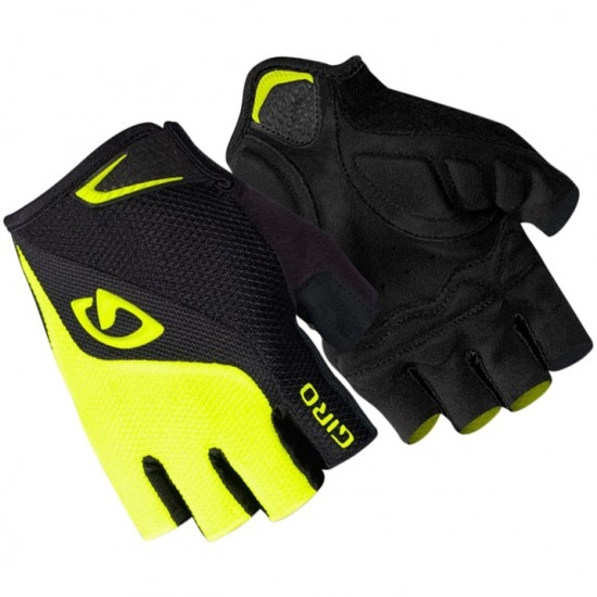 GIRO Bravo Gel 2018 Black / Highlight Yellow Gloves