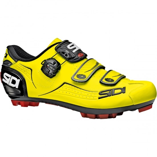 SIDI MTB Trace Yellow Fluo / Black Shoe