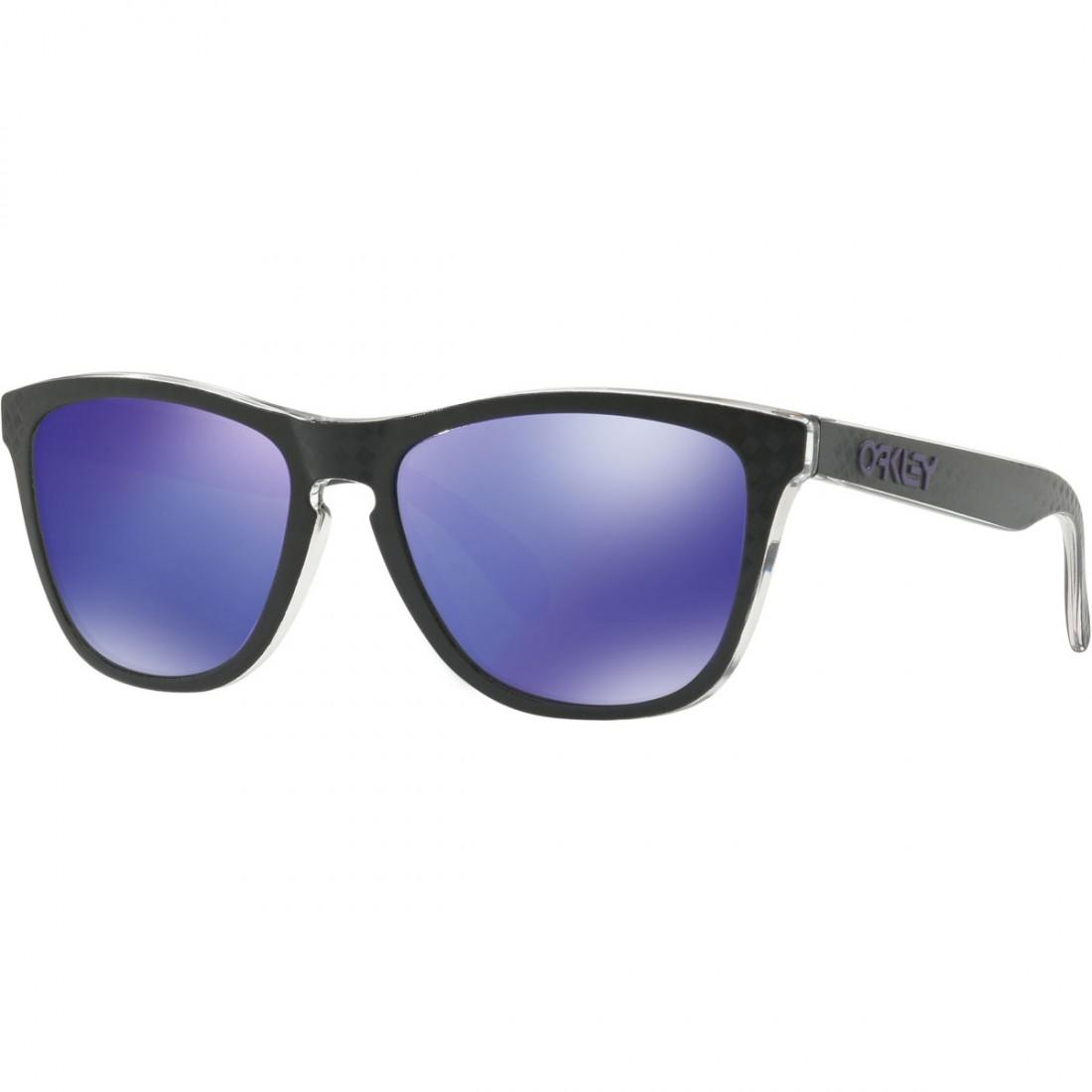 87ced3d7872 OAKLEY Frogskins Checkbox Collection Black   Violet Iridium Sun glasses ·  Motocard