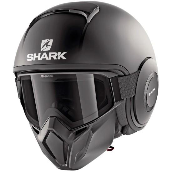 Capacete SHARK Street-Drak Blank Black Mat