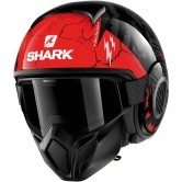 SHARK Street-Drak Crower Black / Anthracite / Red