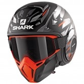 SHARK Street-Drak Kanhji Mat Black / Orange / Silver