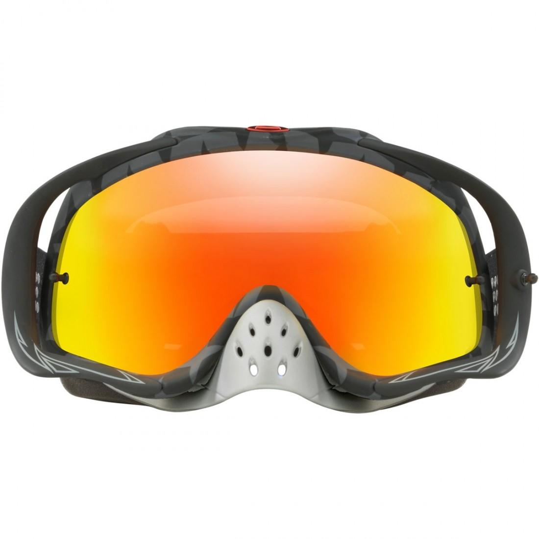 024cf499465 OAKLEY Crowbar MX Troy Lee Designs Series Megaburst Black   Fire Iridium  Goggles