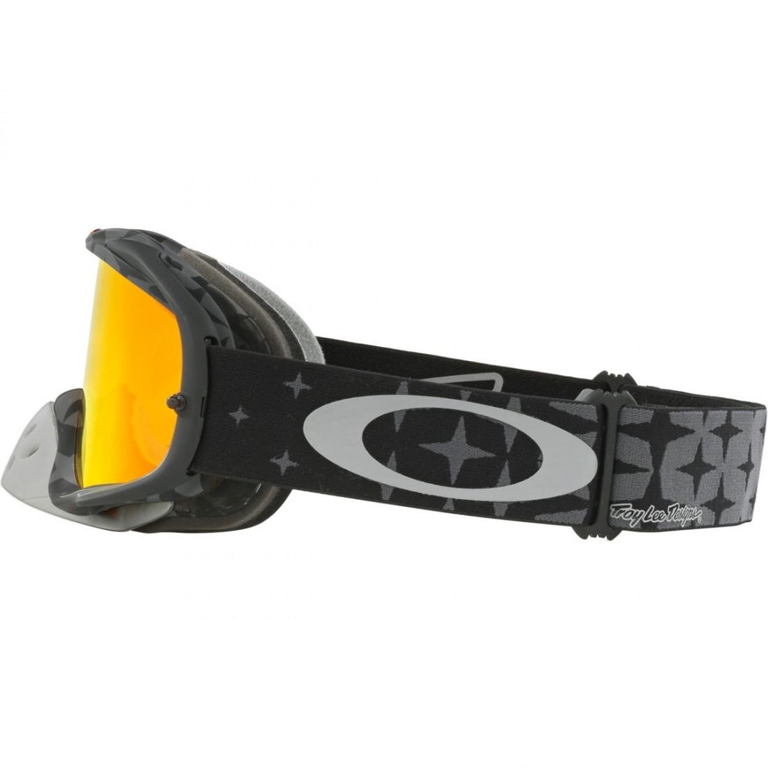 01b742fb86 OAKLEY Crowbar MX Troy Lee Designs Series Megaburst Black   Fire Iridium  Goggles